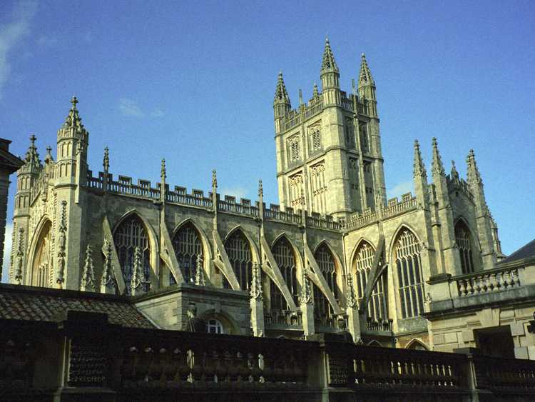 The north side of the Bath Abbey