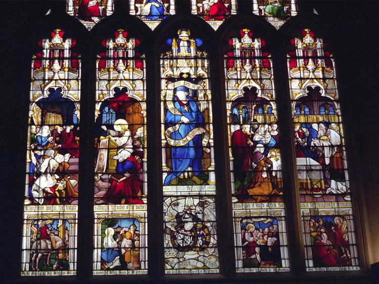 Bath Abbey window