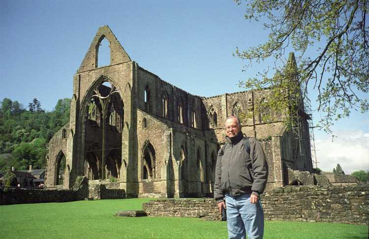 Tintern Abbey next to the River Wye in Southern Wales was founded in 1131.