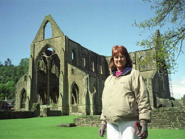 Geri at Tintern Abbey ruins