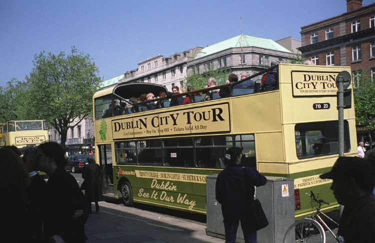 We toured Dublin on this hop-on hop-off bus.