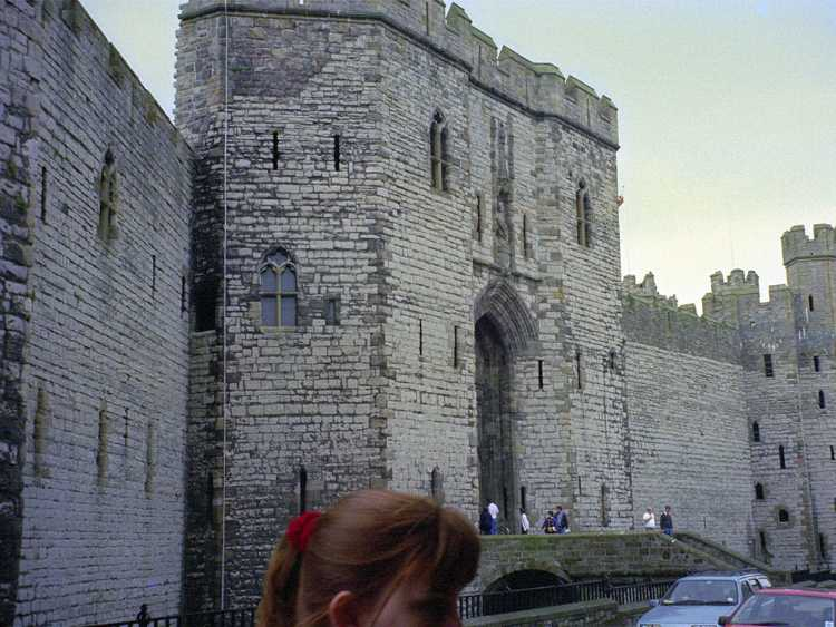 Entrance to the Caernarfon Castle