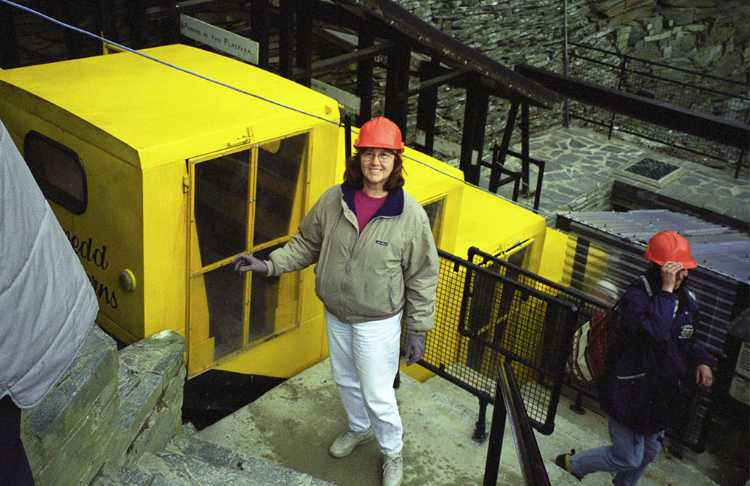 We visited a shale mine in Blaenau Ffestiniog, Wales