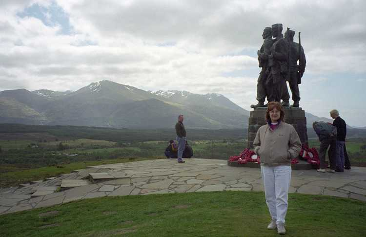 "The Commando Memorial  is located approximately 1 mile NW of the Spean Bridge at the junction of the A82 and the B8004.""In memory of the officers and men of the commandos who died in the second world war 1939 - 1945. This country was their training ground."""