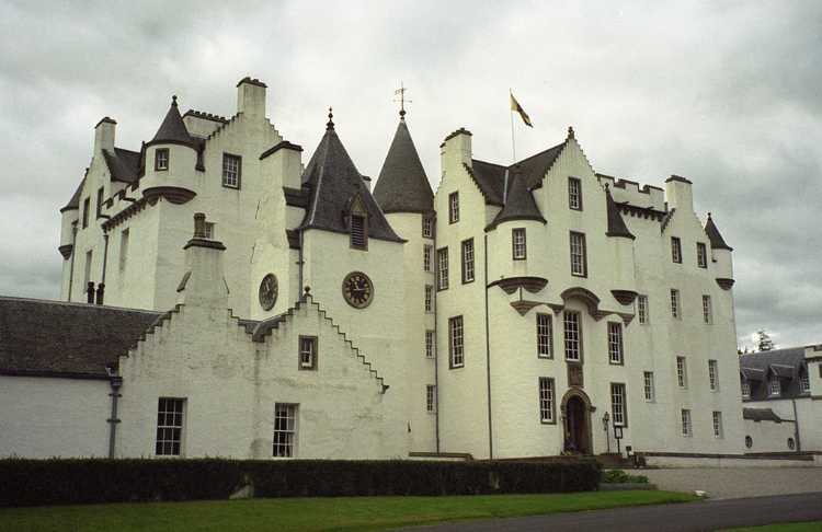 Blair Castle is a little north of Pitlochry. It dates from 1269.