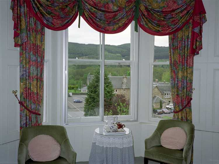 The view from our room at the Craigroyston House in Pillochry, Scotland.