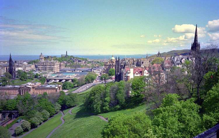 A view of Edinburgh from the Castle