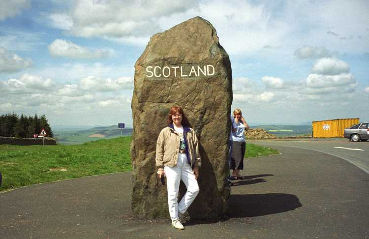 We stopped at the border between Scotland and England.