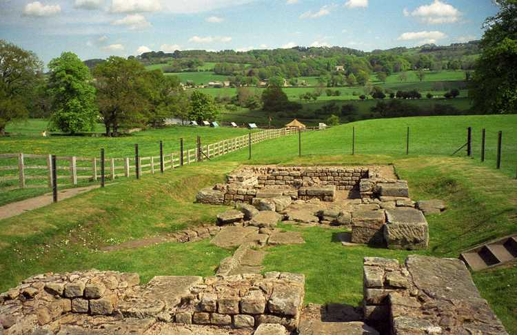 Ruins of a Roman fort along Hadrian's Wall