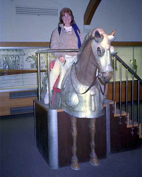 Geri mounted her steed in the Tower of London