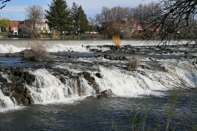 Falls on the Snake River in Idaho Falls, Idaho