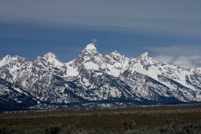 Teton range from the east side