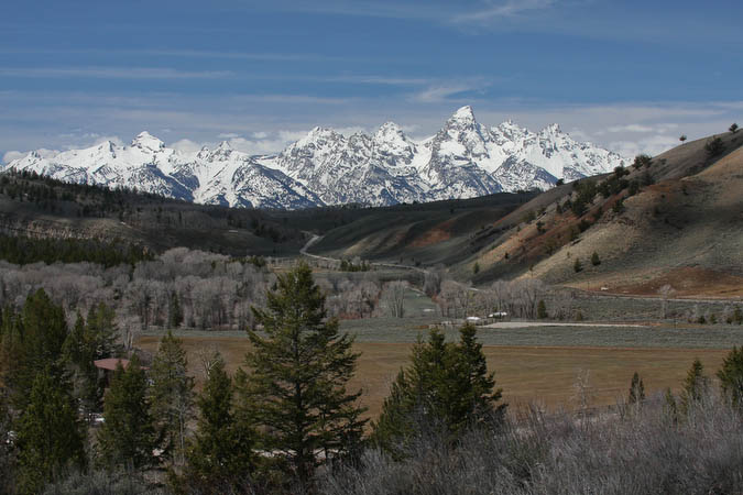 Teton range as seen from the Gros Ventre area