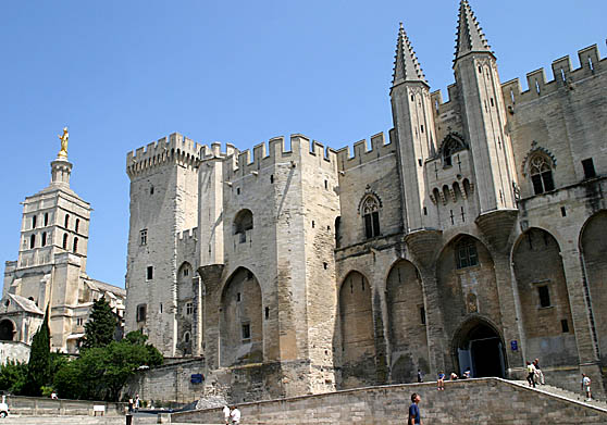 The Palace of Popes in Avignon