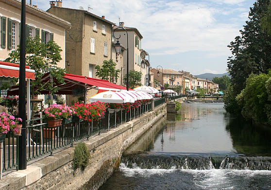 The Sorgue River in Isle sur Sorgue