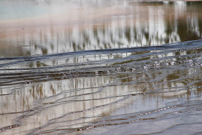 Reflections and patterns in the Midway Geyser Basin