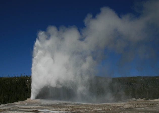 Old Faithful is really steamed